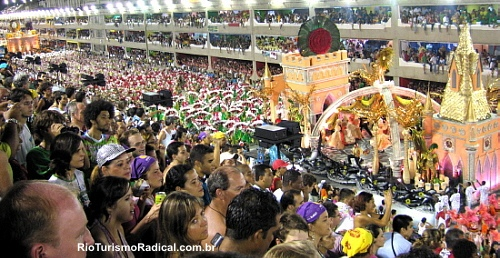 This is carnival in Rio. Quite fun.