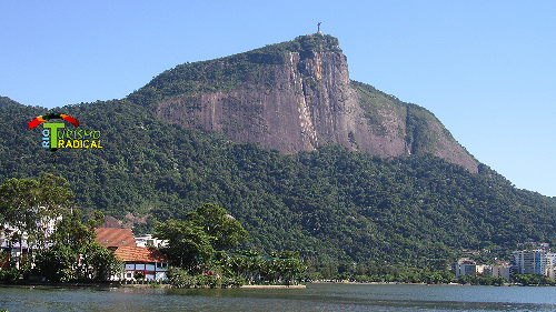 Corcovado Mountain with the Christ Statue at the top